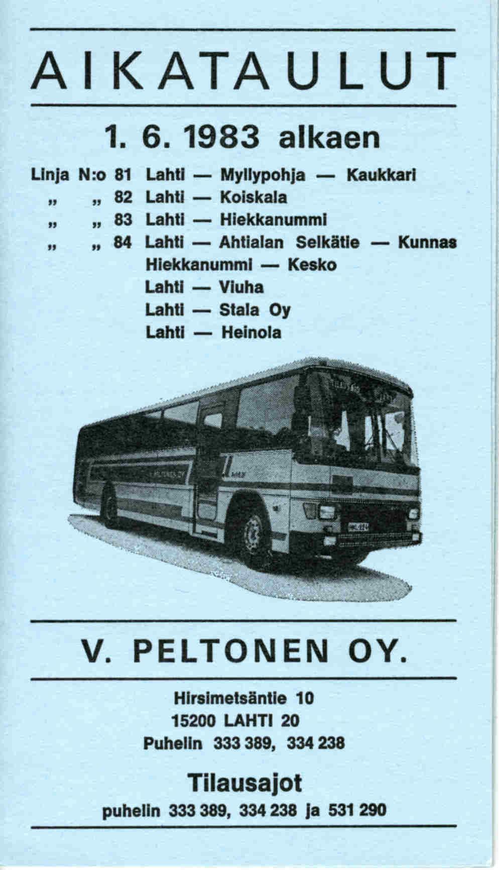 bussi 85 pysäkit